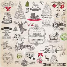 Vector Set: Christmas Calligra...