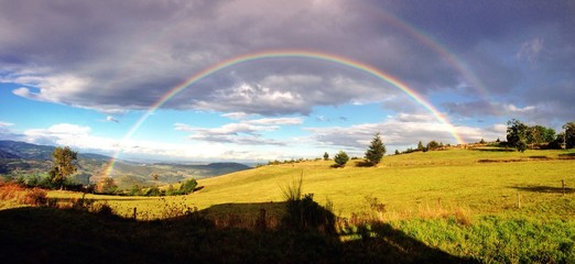 double rainbow in the french sky