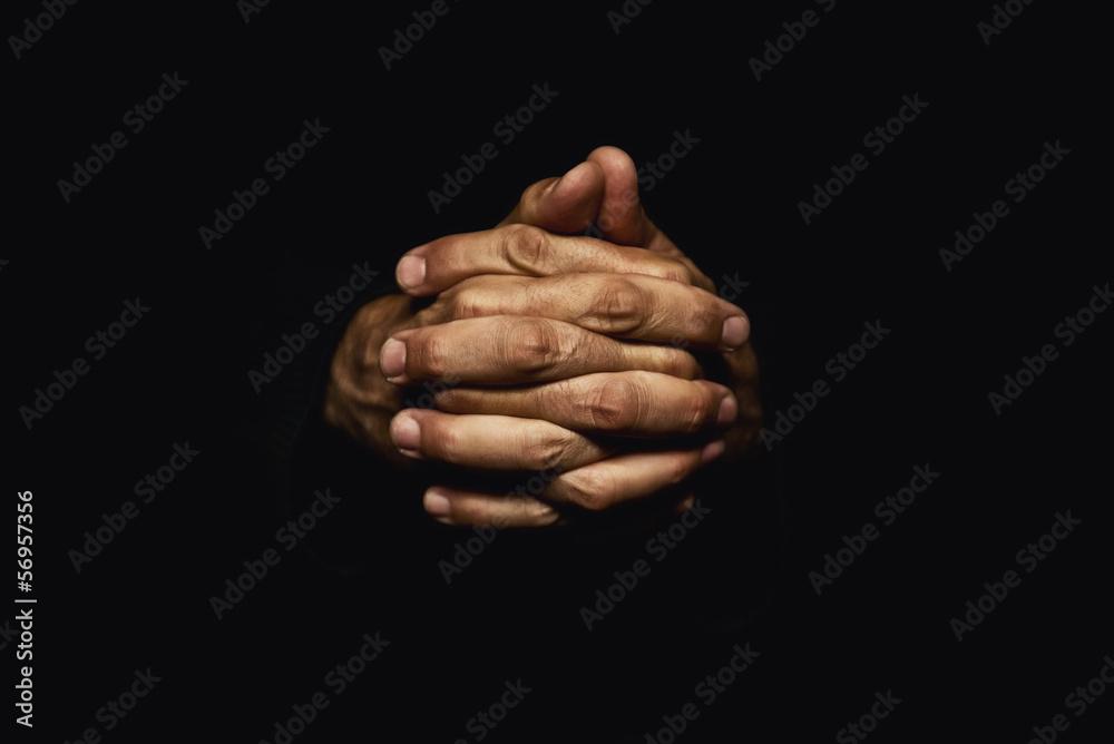 Fototapety, obrazy: Hands crossed in prayer