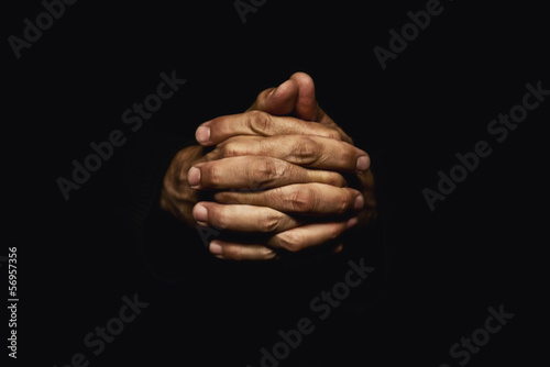 Fototapeta Hands crossed in prayer
