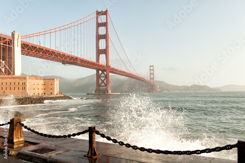 Golden Gate Bridge and San Francisco Bay, CA, USA