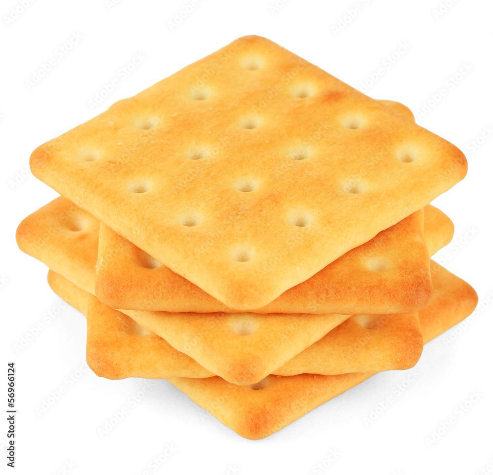 Fototapeta Delicious crackers isolated on white