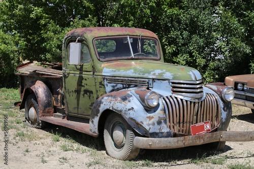 Deurstickers Oude auto s Schrottauto