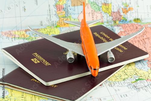 Cuadros en Lienzo concept voyages par avion