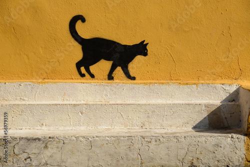 murales - gatto Slika na platnu