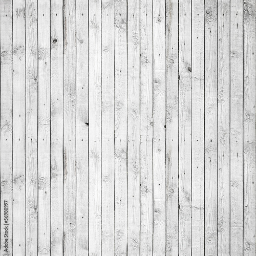 Tuinposter Hout Seamless background texture of white wooden wall