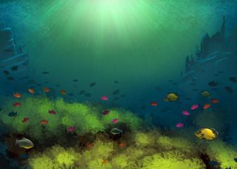 Fototapeta na wymiar Underwater