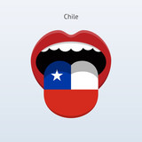 Chile language. Human tongue.