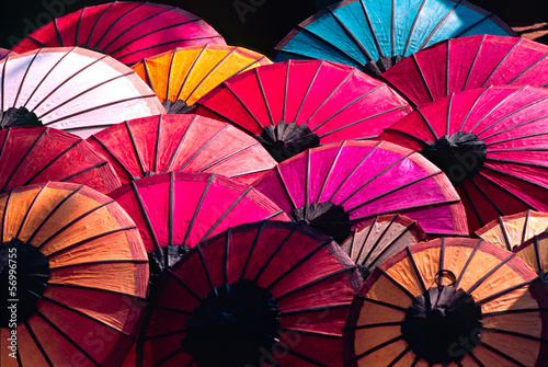 Umbrellas at a tipical asian market