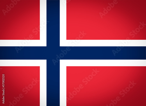 Flag of Norway vignetted Wallpaper Mural