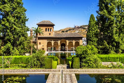 Pinturas sobre lienzo  Partal Palace in La Alhambra in Granada, Spain