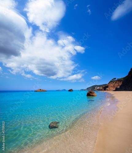 Naklejka na szybę Ibiza Aigues Blanques Aguas Blancas Beach at Santa Eulalia