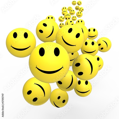 Fotografia  Smileys Show Happy Positive Faces