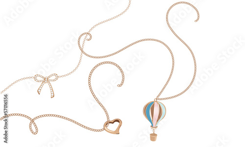 Leinwand Poster Jewelry chains - girls day dream