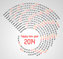 2014 Calendar Spiral Illustrat...