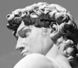 canvas print picture - head of David sculpture by  Michelangelo, Florence, Tuscany