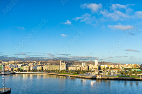 Beautiful view of Las Palmas city, Gran Canaria, Spain