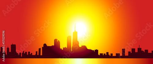 Fototapety, obrazy: Chicago Skyline- Vector