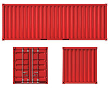 Cargo Container Front Side And...