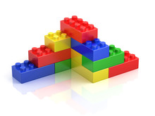 Colorful Building Blocks Isolated On White