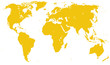 Yellow Detailed World Map