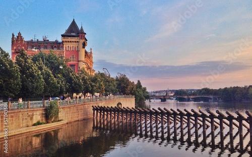 Fototapeta moldava river