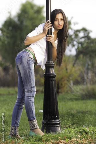 young girl Fototapet
