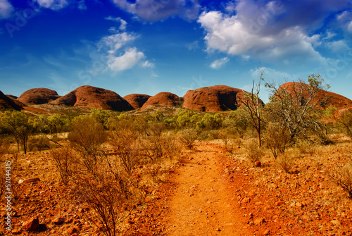 Stickers pour porte Orange eclat Wonderful colors and landscape of Australian Outback