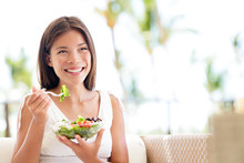 Healthy Lifestyle Woman Eating...