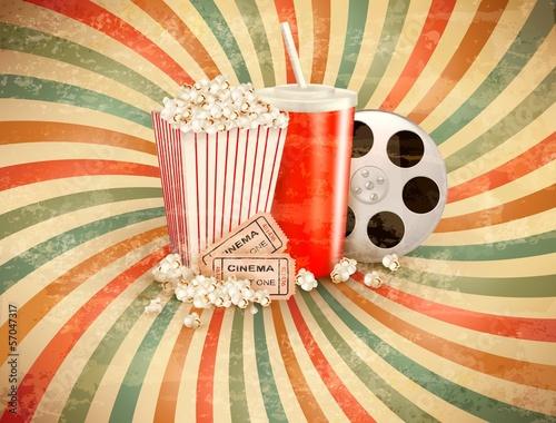 Fototapety Pop Art retro-tlo-z-popcornem-i-drinkiem-ilustracji-wektorowych