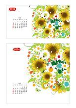 Floral Calendar 2014, July