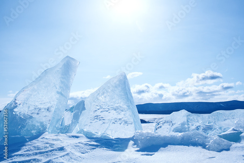 Photo  landscape on  lake Baikal