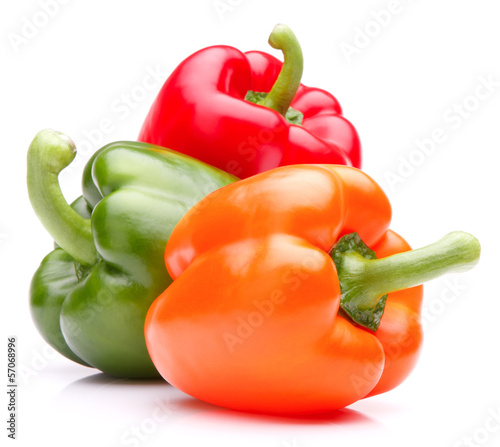 Fototapeta Sweet bell pepper isolated on white background cutout obraz