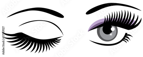 vector eyes winking Fotobehang