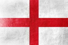 England Flag Painted On Leather Texture