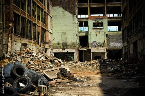 Papiers peints Les vieux bâtiments abandonnés Abandoned Packard Factory 8