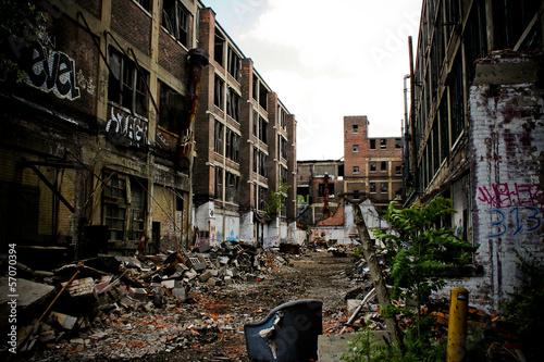 Papiers peints Les vieux bâtiments abandonnés Abandoned Packard Factory 9