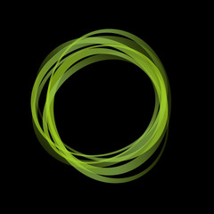NaklejkaVector Green Rings Background
