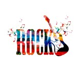 Colorful rock vector background with guitar - 57078188