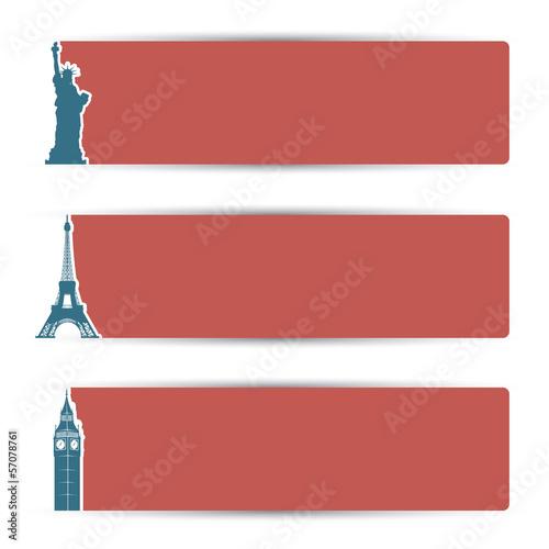 Fotografia World city banners