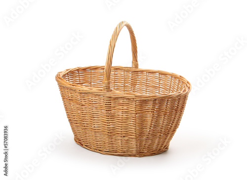Fotografie, Obraz  wicker basket, isolated
