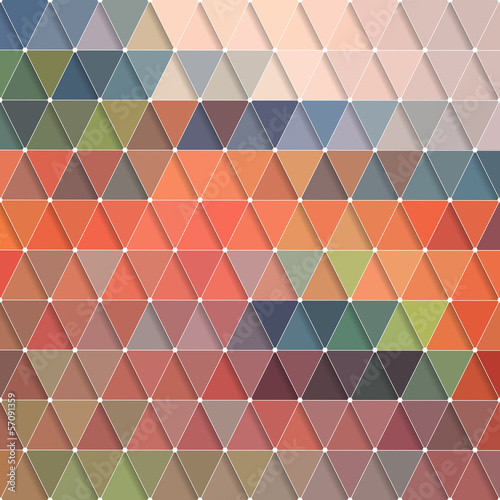 Foto op Canvas ZigZag Triangles Pattern