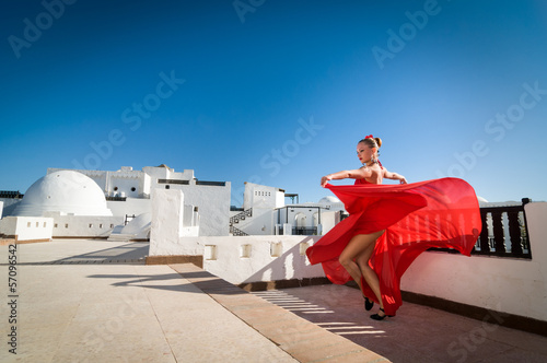 Photo sur Toile Carnaval Flamenco dancer
