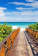 Walkway Leading To The Beach Of Varadero In Cuba