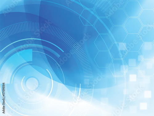 Photo  abstract technology background with hexagons