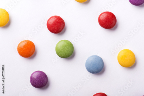 Concept with candies Canvas Print