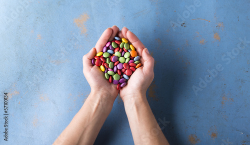 Photo  Concept with candies