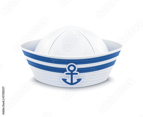 Fotografía Sailor cap. vector illustration isolated on white background