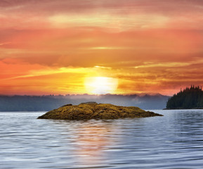 Fototapeta Wschód / zachód słońca Alaska Sunset