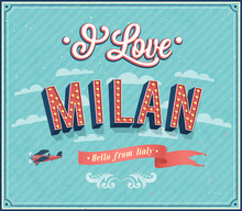 Vintage Greeting Card From Milan - Italy